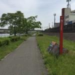 なにわ自転車道、神埼川をサイクリング